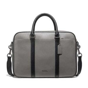 Coach Perry Slim Brief in Crossgrain Laptop Bag